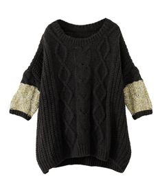 KBF colorful sleeve cable knit of KBF (Keibiefu) (Sweaters)   detail image