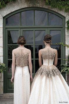 Une robe de mariée bicolore