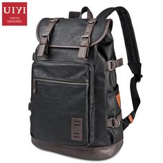 UIYI PU Men #Travel #Bag Casual Style Designer Backpacks Men High Capacity Student #Backpack  UYB6015 #aliseller360