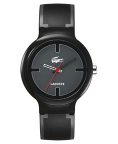 Lacoste Watch, Black and Gray Silicone Strap 2010525