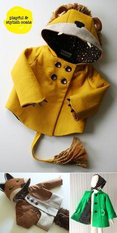 pea coats for children by Dana Renee