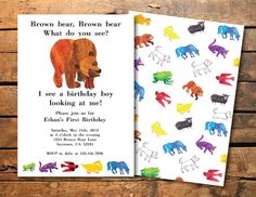 Brown Bear Eric Carle Inspired Birthday Or Baby Shower Party Food