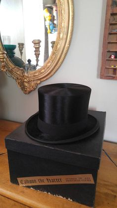 Hey, I found this really awesome Etsy listing at https://www.etsy.com/ca/listing/453050488/antique-parisian-silk-plush-top-hat-with