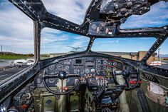 B-17G Nine O Nine Cockpit by Greg Booher