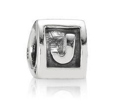 Pandora Silver Alpha J Charm 790323J