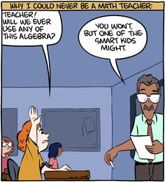 Why I Can't Be a Math Teacher - more at http://www.thelolempire.com