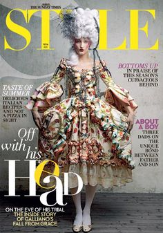 "Designed for his 2000 Christian Dior ""Masquerade and Bondage"" collection, John Galliano's ""Marie Antoinette"" dress tells an unexpected story. Christian Lacroix, Marie Antoinette, Burlesque, Magazin Covers, Rococo Fashion, French Fashion Designers, John Galliano, Fashion History, Costume Design"