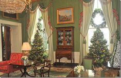 Christmas in the Green Room at the White House