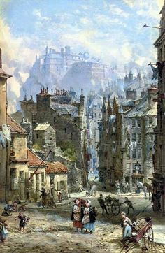 Candlemaker Row, Edinburgh c1832