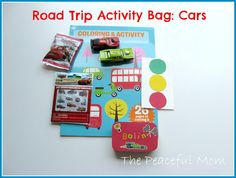 Road Trip Activity Bag--Cars--The Peaceful Mom
