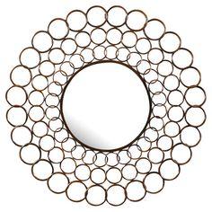 Found it at Wayfair - Vernon Round Mirror in Copper