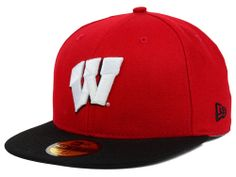 Wisconsin Badgers New Era NCAA 2 Tone 59FIFTY Cap Hats