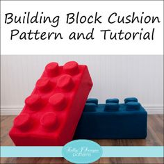 Kids will love this building block cushion! This cushion is designed to look like the popular interlocking blocks, such as Legos, Megablocks, other