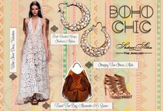 What better style statement than that of a carefree lifestyle with a touch of #luxury! #BohoChic
