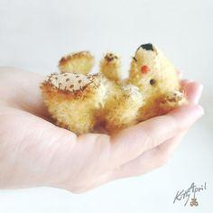 Miniature Teddy Bear Tom  Primrose Mohair 2 by KittyAprilHandmade, $60.00