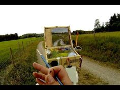 Plein Air Painting Adventures - 019 - Caught in a rain storm while painting - YouTube