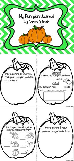 FREEBIE!  Perfect pumpkin journal for fall and investigating pumpkins!