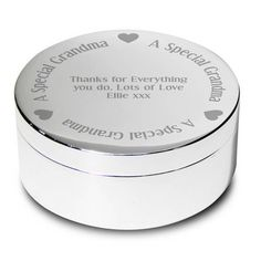 Personalised Godmother Round Trinket Box from Personalised Gifts Shop - ONLY Personalized Gifts For Her, Engraved Gifts, Personalised Box, Personalized Wedding, Mother Of The Groom Gifts, Mother Of The Bride, Gifts For Wedding Party, Wedding Ideas, Party Gifts