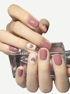 """If you're unfamiliar with nail trends and you hear the words """"coffin nails,"""" what comes to mind? It's not nails with coffins drawn on them. Although, that would be a cute look for Halloween. It's long nails with a square tip, and the look has. Fall Nail Art Designs, Acrylic Nail Designs, Acrylic Nails, Heart Nail Designs, Fake Nail Designs, Coffin Nails, Fall Designs, Nagellack Design, Nagellack Trends"""