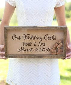 This 'Our Wedding Corks' Personalized Cork Keeper is perfect! #zulilyfinds