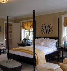 Married monogram in the bedroom! Too pretty!