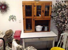 Hoosier table with cupboard