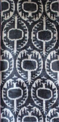 velvet ikat fabric - silk and cotton