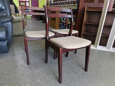 Three dining chairs ----------------- £5 each (pc823)