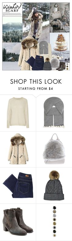 """Winter Scarf Style"" by kittyfantastica ❤ liked on Polyvore featuring Autumn Cashmere, Cash Ca, WithChic, Brunello Cucinelli, Paige Denim and Laurence Dacade"