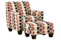 With a bold contemporary pattern on the upholstery fabric surrounding a sleek straight-lined design, the Apex-Natural accent chair and ottoman is the perfect addition to the decor of any living area. The light toned upholstery fabric features a stylish contemporary pattern in exciting eye-catching colors that is sure to add that splash of style that will awaken your home environment. With the straight-lined contemporary design supported by rich finished tapered block feet, the Apex-Natural a