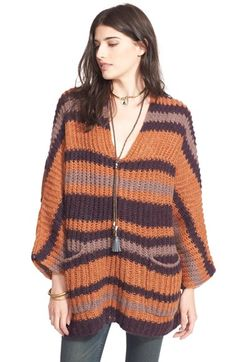 Free People Stripe Knit Tunic available at #Nordstrom