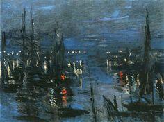 Клод Моне - The Port of Le Havre, Night Effect, 1873. Клод Оскар Моне