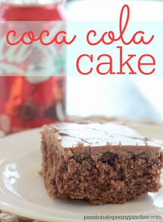 Coca Cola Cake - so good, and this is absolutely the best chocolate frosting ever!