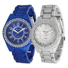 @Overstock - Showcasing dazzling Czech rhinestones, this link watch will add a touch of glam to any ensemble. The links are soft-coated, creating a velvety finish and making this piece comfortable enough for all-day wear.http://www.overstock.com/Jewelry-Watches/Geneva-Platinum-Womens-Rhinestone-Soft-coated-Link-Watch/6700059/product.html?CID=214117 $28.99
