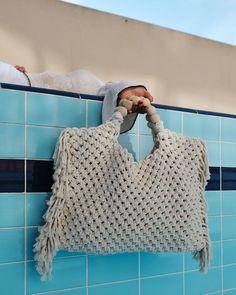 Summer Purses, Summer Bags, Macrame Purse, Organic Cotton Yarn, Yarn Bag, Fringe Bags, Macrame Design, Macrame Tutorial, Macrame Patterns