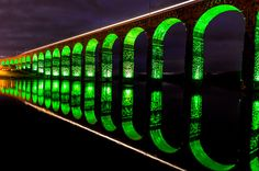 Royal Border Bridge in Berwick upon Tweed photo by Jonathan Combe Green Art, Green Colors, Berwick Upon Tweed, Scotland Travel, World Of Color, Covered Bridges, Great Photos, Amazing Photos, Photoshop Actions