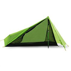 Andake Tent 1p DoubleSided SiliconeCoated 15D Nylon Ripstop Fabric with Waterproof Rating of PU 2000mm Ultralight and Portable for Fitting Backpack Best Tents for Camping Hiking *** Want to know more, click on the image. (This is an affiliate link and I receive a commission for the sales)