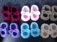 My Easy Crochet Petite Baby Mary Jane Ballerina Slippers With Bows (3 inch sole) includes bloopers - YouTube