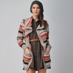 Really love this and really want it but wayyy too pricey!!!Pam Printed Long Cardigan Multi, $105, now featured on Fab.