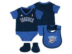 3a4a85657e7ce6 NBA Oklahoma City Thunder 3 Piece Baby Layette Set Baby Layette