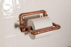 Industrie Kupfer Toilettenpapierhalter von NineandTwenty auf Etsy