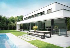 Outdoor design - Villa R_Afsnee Innovative Architecture, Garden Architecture, Beautiful Architecture, Architecture Design, Modern Villa Design, Modern Contemporary Homes, Contemporary Architecture, Modern Exterior, Exterior Design