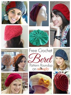 10 Free and Beautiful Beret Crochet Patterns