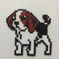 Beagle dog hama beads by cahamabeads ----- Also, click on the image to check out…