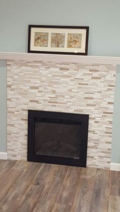 electric fireplace with mosaic tile surround and white mantel converted wood fireplace to electric wood ideaswhite