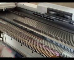 How to do a weaving cast on and an e-wrap cast on, using a Silver Reed / Knitmaster knitting machine.