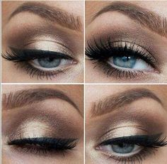 vintage wedding makeup for brown eyes - Google Search
