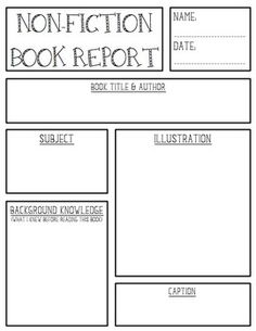 Free Printable Book Report Templates | non-fiction book report.doc ...