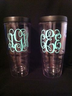 Personalized 24oz Plastic Tumbler and Lid with by ImagineItVinyl, $14.00