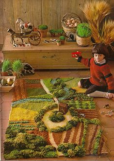 How do you feel about this farm recreation in a rug? #kidsroom #rugs #kidsroomideas Find more inspirations at www.circu.net